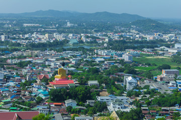 Beautiful view of the city of Nakhon Sawan Province, Thailand