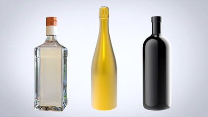 3 different materials for bottles