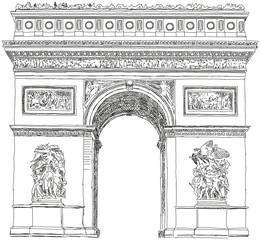 Triumphbogen Arc de Triomphe Paris