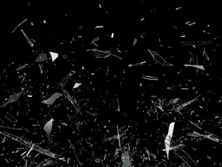 Obraz Pieces of Broken Shattered glass - fototapety do salonu