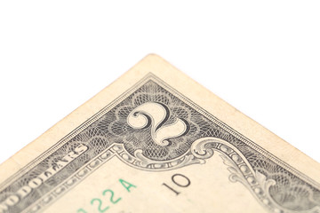 Two dollar bill close-up.