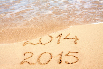 New year 2015 on the beach.