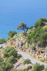 Kreta - Griechenland - Serpentinen bei Kounali