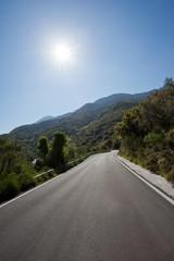 Kreta - Griechenland - Landstraße bei Krasi