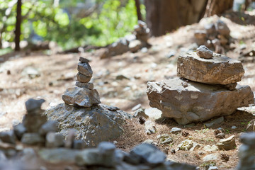 Kreta - Griechenland - Steintürme in der Samaria-Schlucht
