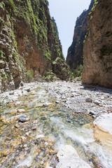 Kreta - Griechenland - Flusslauf durch die Samaria-Schlucht
