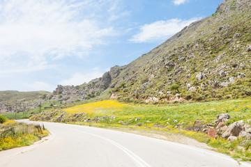 Kreta - Griechenland - Landstraße nach Plakias