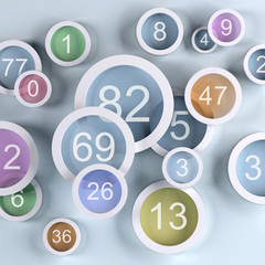 background colored lens with numbers