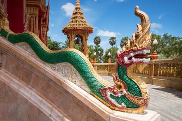 Element of Thai mythologycal character Golden Naga (snake), as p
