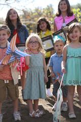 Children Enjoying a Fashionable Outdoor Birthday Party