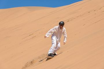 Riding on sand