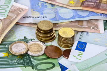 money and funds from the European currency economy