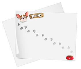 Empty paper templates