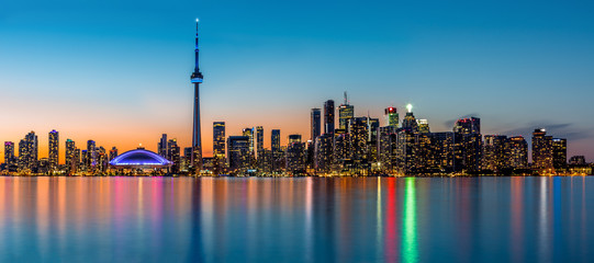 Wall Murals Toronto Toronto panorama at dusk