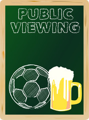 soccer public viewing,free copy space, vector illustration