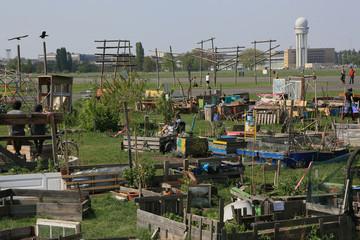 alternative Kleingartenanlage auf dem Tempelhofer Feld