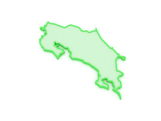 Map of Costa Rica.