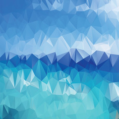 Abstract blue background polygonal