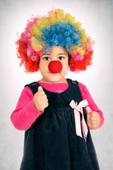 Clown thumb up
