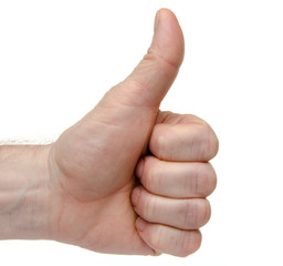 Hand with a thumb up