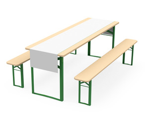 benches and table