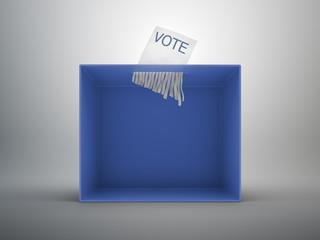 Paper shredder ballot box