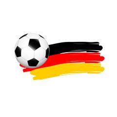 Fußall mit deutscher Flagge als Wischer