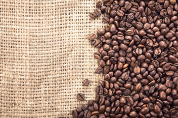 Close up of a coffee beans.