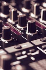 Black sound mixer controller