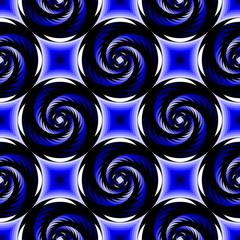 Design seamless colorful spiral geometric pattern