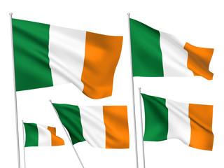Ireland vector flags