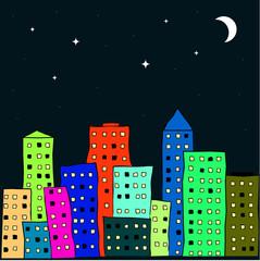 night scenery of the city