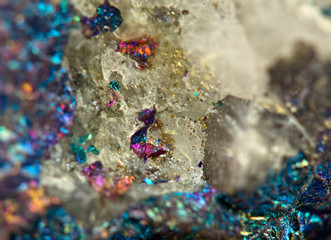 Crystals. Extreme closeup
