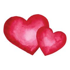 Watercolor heart. Design element.