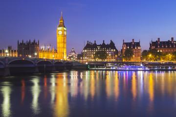 Photo sur Plexiglas Londres Big Ben and House of Parliament at Night