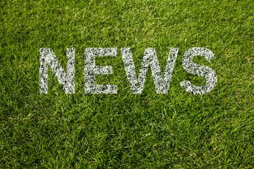 news text auf rasen