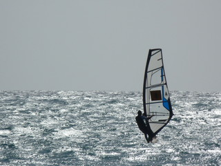 Windsurfer, Meer