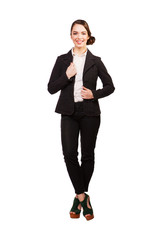 Beautiful young businesswoman standing.