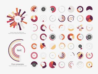 Obraz Infographic Elements.Pie chart set icon. - fototapety do salonu