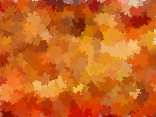 Autumnal leaf of maple and sunlight. EPS 10