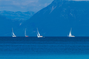 Sailing the Ionian sea in Lefkada