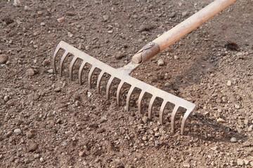 bei der Gartenarbeit