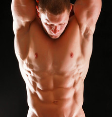 Healthy muscular young man.