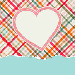 Vintage frame with hearts.  + EPS8