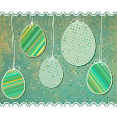 Easter eggs background. EPS 8