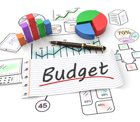 Obraz Budget concept - fototapety do salonu