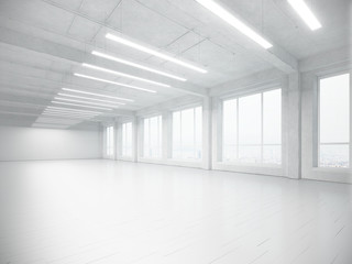 empty white interior