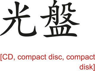 Chinese Sign for CD, compact disc, compact disk