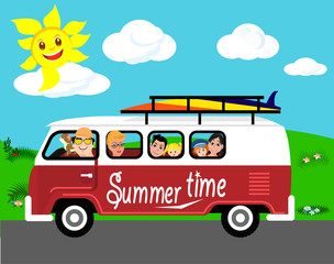 Summer vacantion trip