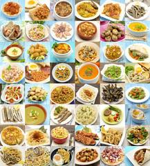 Collage de platos cocinados